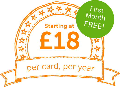 from £18 per card per year