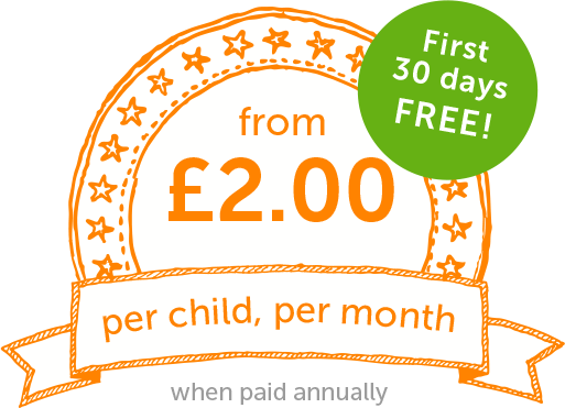 from £2.00 per child per month