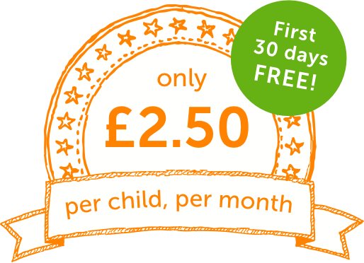 from £2.50 per child per month